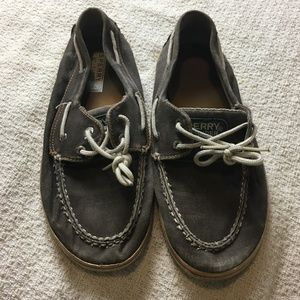Sperry Top Sider Boys Halyard Canvas Boat Shoes